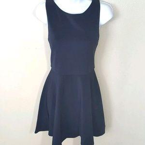 ALICE + OLIVIA Navy Blue stretch ribbed Dress